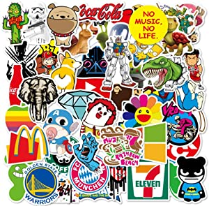 100 Packs Random Cute Funny Trendy Stickers Water Bottles Laptop Car Hydroflasks Phone Motorcycle Guitar Skateboard Computer Vinyl Sticker Waterproof Aesthetic Decals for Teens Boys Girls Adults