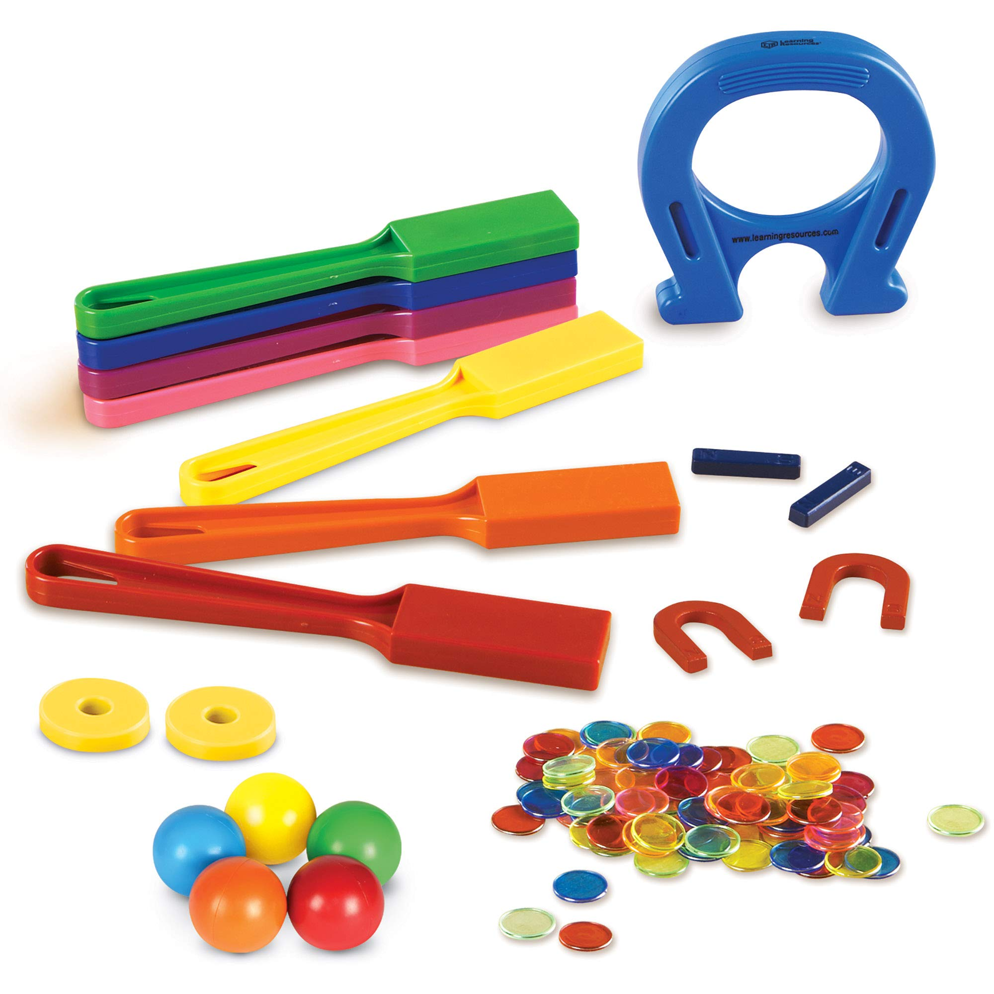Learning Resources Super Magnet Lab Kit, STEM Toy, Critical Thinking, 119 Pieces, Ages 5+