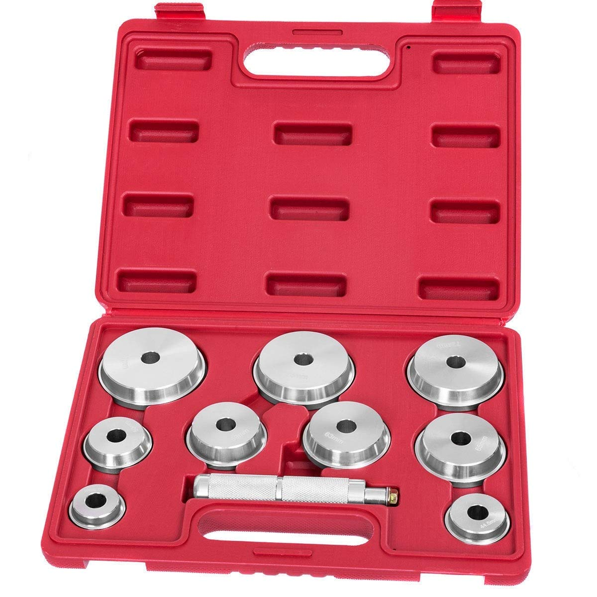 LordBee 10 pcs New Aluminum Alloy Wheel Bearing Race and Seal Driver Set Storage Carrying Case