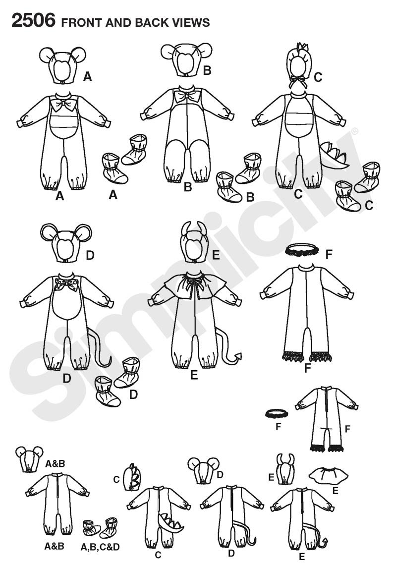 Amazon.com: Simplicity Sewing Pattern 2506 Toddler Costumes, A (1/2 ...
