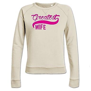 Sudadera de mujer Greatest Wife by Shirtcity: Amazon.es: Ropa y accesorios