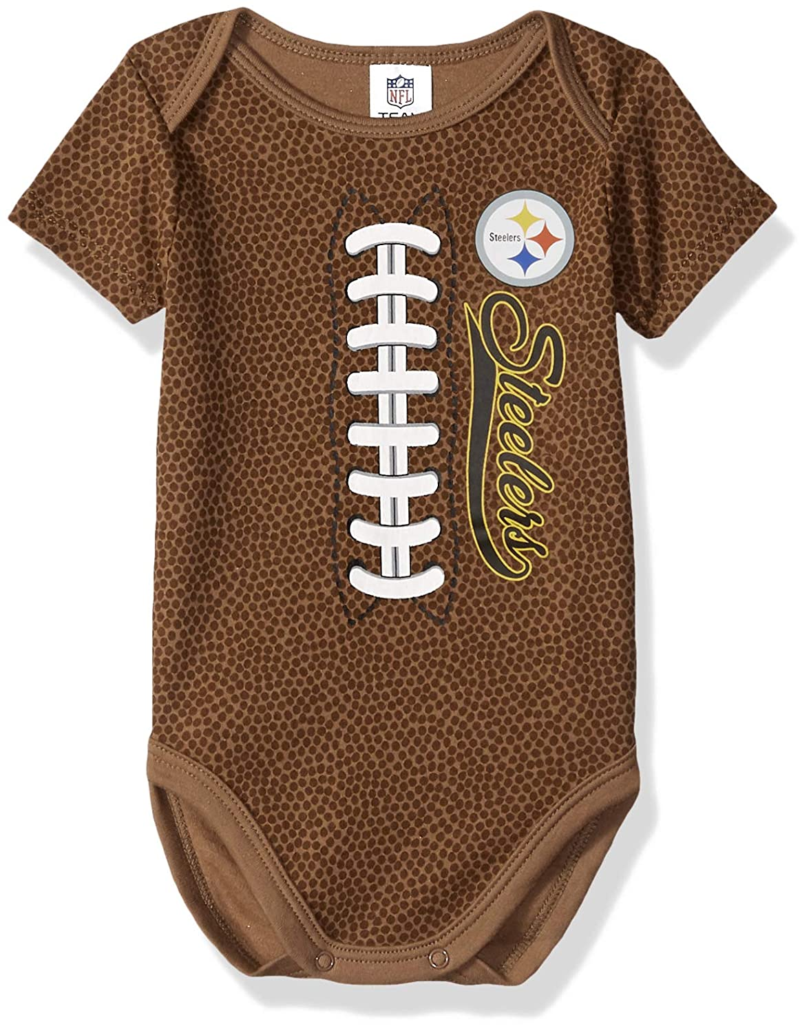 Amazon.com   NFL Pittsburgh Steelers Unisex-Baby Football Bodysuit ... c7d7cbfd5
