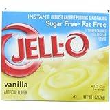 Jello Instant Vanilla Pudding mix SUGAR FREE 28g
