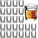 2-Ounce Square Shot Glasses Set with Heavy Base, 24 Pack Clear Shot Glass