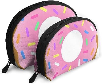 Bolsa de Maquillaje Strawberry Donut Funda de Maquillaje portátil ...
