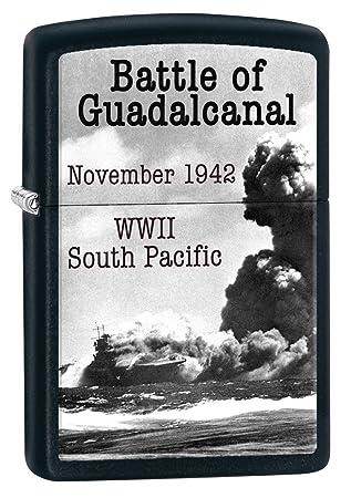 zippo lighter world war ii battle of guadalcanal black matte 77283