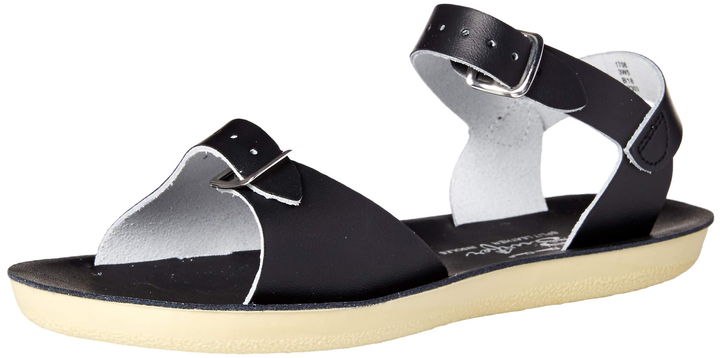 Salt Water Sandals by Hoy Shoe Baby Sun-San Surfer Flat Sandal, Black, 9 M US Toddler by Salt Water Sandals