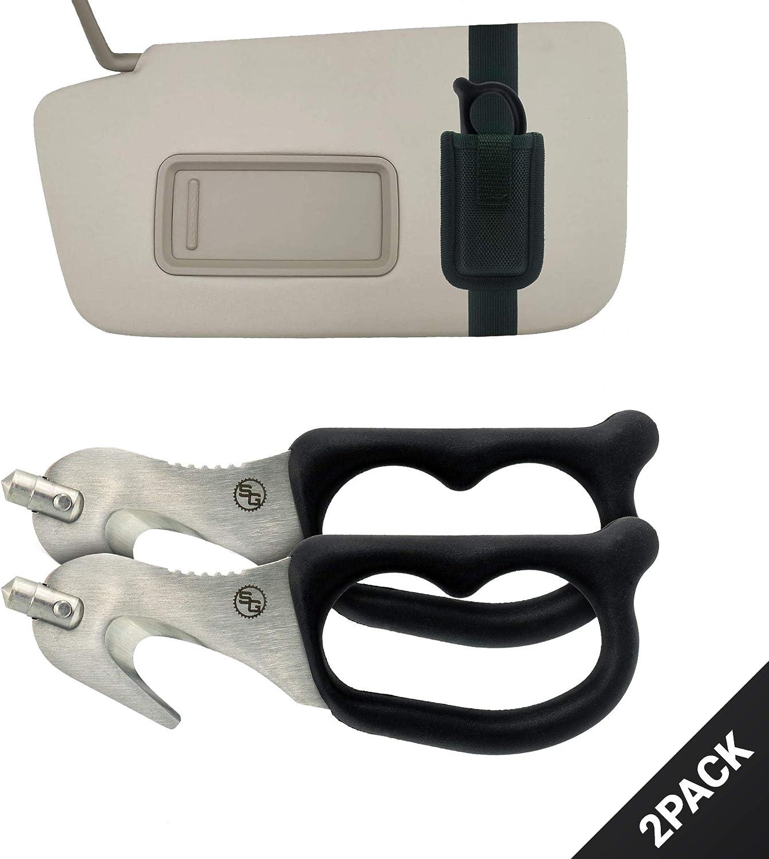 ORANGE SuperVizor XT Auto Escape Tool Seatbelt Cutter Window Breaker