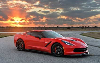 2014 Chevrolet Corvette Stingray Hpe700 Twin Turbo By Hennessey 24X36 Poster Banner