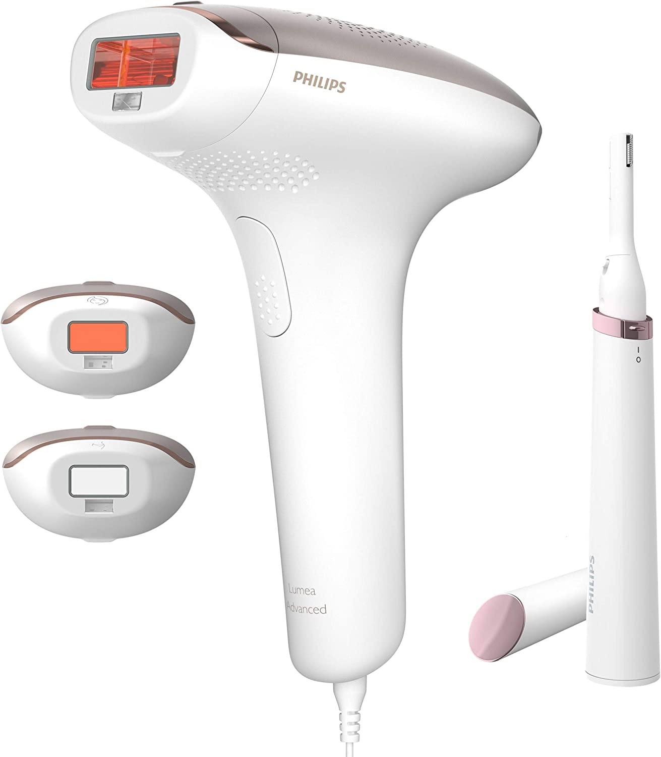 Philips Lumea Advanced IPL SC1998/00 Hair removal device for Body, Face and Bikini - same as SC1999/00 Corded with US adapter plug - Worldwide