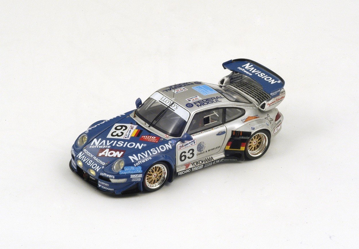 Spark Model S4182 Porsche 911 GT2 N.63 26th LM 1999 Haupt-Robinson-Price 1:43