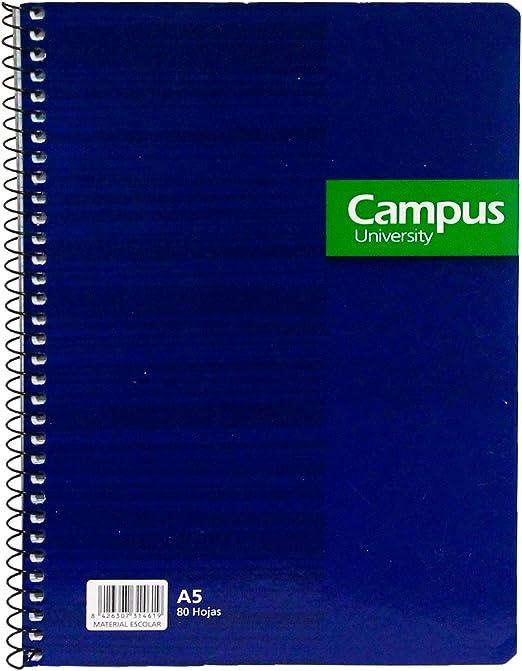 Pack de 8 Cuadernos A5 de Doble pauta Azules y Negros: Amazon.es ...