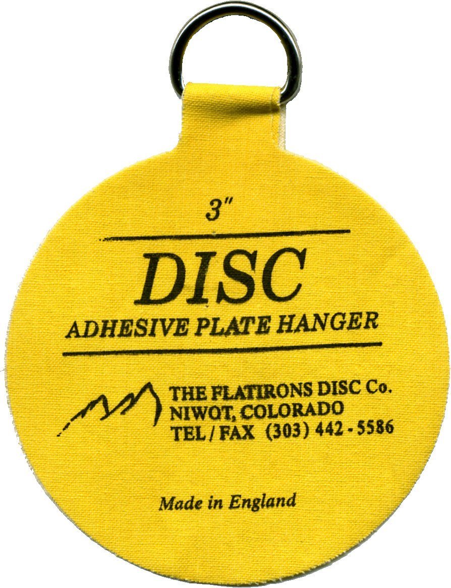 Flatirons Disc Adhesive Medium Plate Hanger Set (4 - 3 Inch Hangers) - Picture Hanging Hardware - Amazon.com  sc 1 st  Amazon.com : invisible disc adhesive plate hangers - Pezcame.Com
