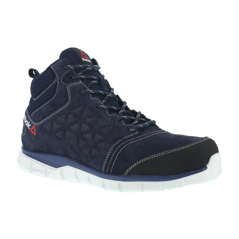 Reebok WORK ib1035 S3 39 Excel Light Athletic Sicherheit Hiker Schuh, Aluminium Fuß, Wildleder, Obermaterial Leder, Größe 39, Blau Weiß