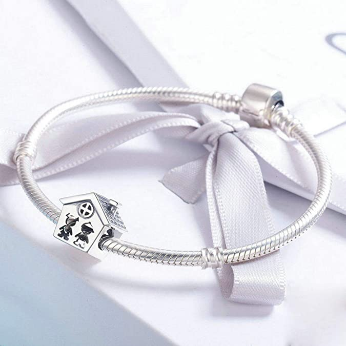 Evereena Silver Beads Bracelet for Girls Blessed are All Love Heart Gift Charm Womens Jewelry