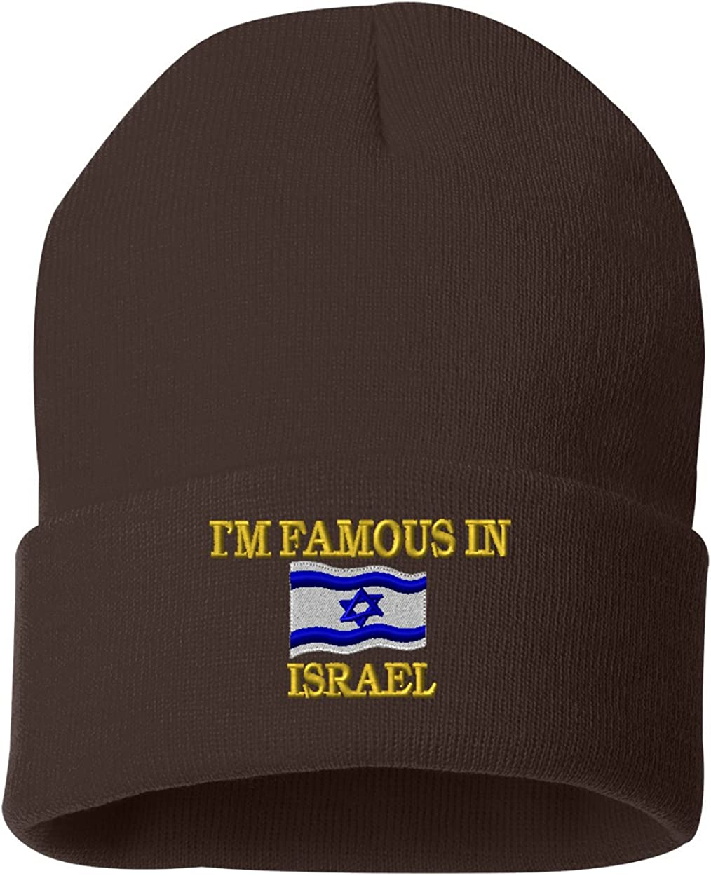 IM FAMOUS IN ISRAEL Custom Personalized Embroidery Embroidered Beanie