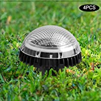 8 LED ABS+PC Material Polysilicon Durable Solar Disk Light, Buried Light Solar Under Ground Light, for Gardens Front…