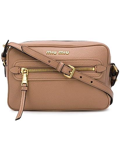 a9c213094524 Miu Miu Women s 5Bh1162ajbf0770 Brown Leather Shoulder Bag  Amazon.co.uk   Clothing