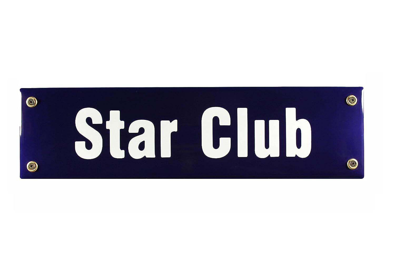 Buddel bini sts-145 - Roadsign starclub hamburgo de santa beatles pauli recuerdo esmalte, 30 x 8 cm, azul