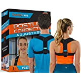 Comfy Brace Posture Corrector-Back Brace for Men and Women- Fully Adjustable Straightener for Mid, Upper Spine Support- Neck,