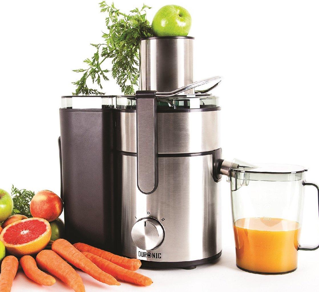 Duronic(Certified Refurbished) JE10 Powerful 1000W Large Feeding Tubed Whole Fruit Centrifugal Power Fruit and Vegetable Juicer with Jug - Juicer machine to make delicious apple orange carrot juicer