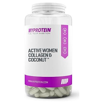 MyProtein Active Woman Collagen y Coconut Cuidado Integral de la Piel Femenina - 60 Cápsulas