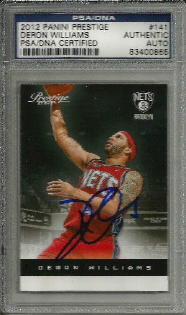 2012 Panini Prestige Deron Williams Signed Auto Card PSA/DNA Slabbed - Autographed Basketball Cards