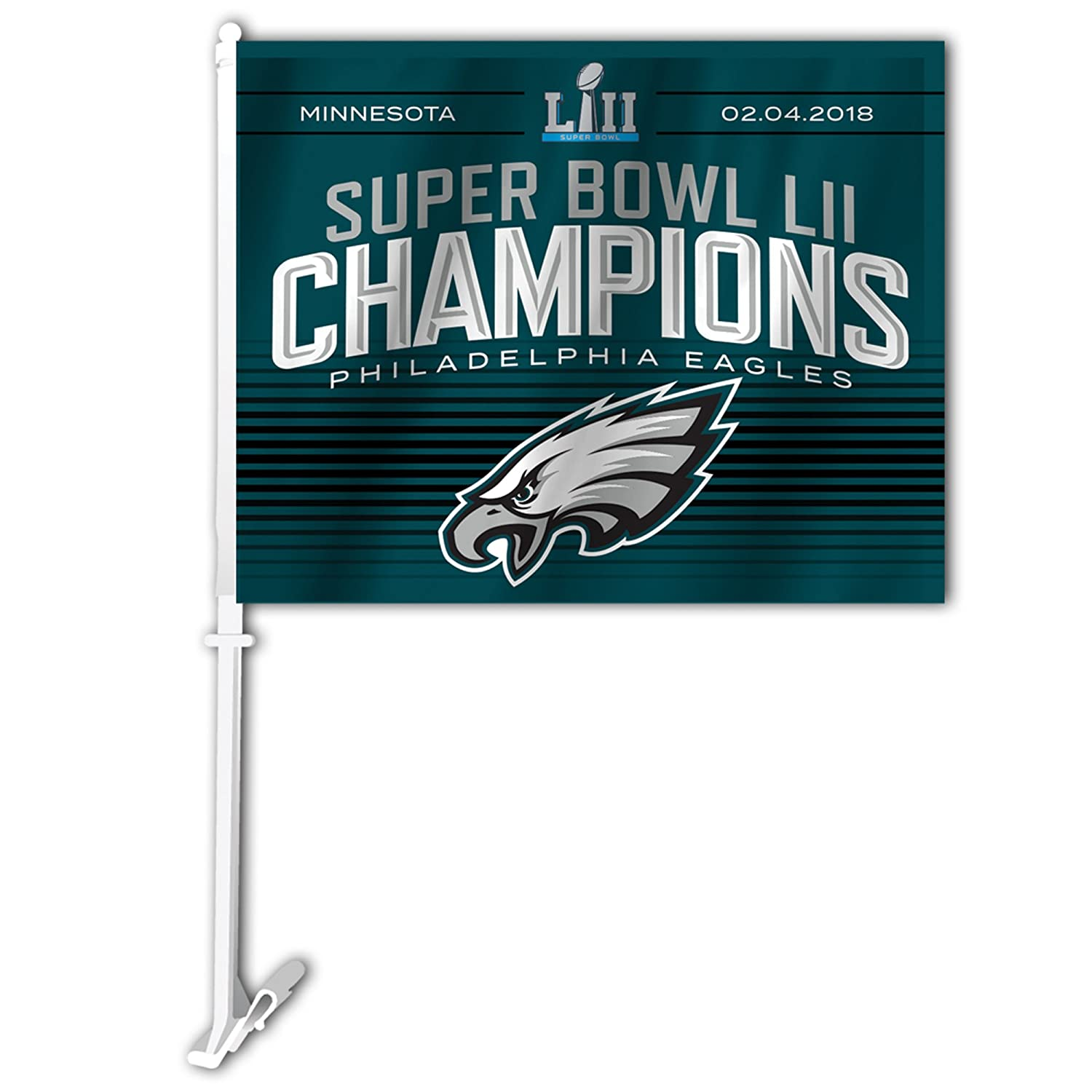 Fremont Die NFL Philadelphia Eagles Super Bowl 52 Champions Car Flag Fremont Die Inc. No