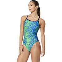 Speedo Women's Swimsuit One Piece PowerFlex Flyback Printed Adult Team Colors