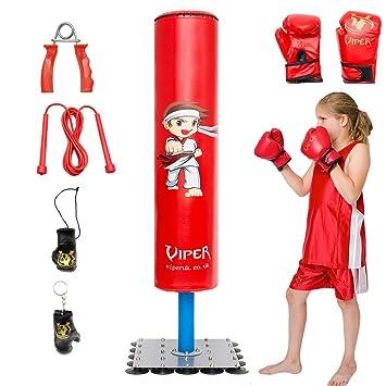 daec2abf06 Enfants, Junior/enfant Sac de frappe sur pied avec gants de boxe Speedball  Kit