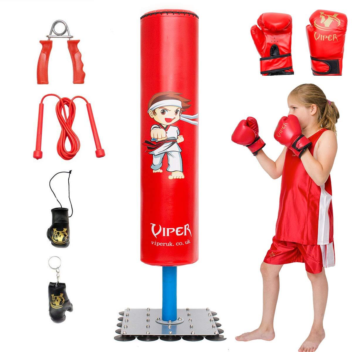 Kids//Junior Boxing FREE STANDING Punch bag Set Freestanding Punching Bag Set