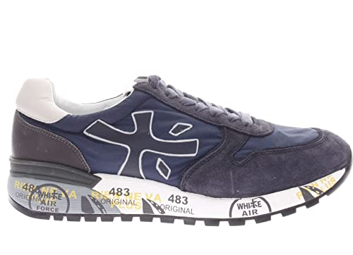 2bfe5e5d5a63b PREMIATA Mick Var 2818.Sneaker in Pelle e Tessuto Uomo.Blu.46 ...