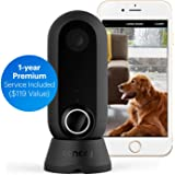 Canary Flex + 1-Year Premium Service Plan | Indoor Outdoor WiFi HD Home IP CCTV Security Camera | Home Surveillance | Night Vision, Weatherproof, Wireless or Plug in, Flexible | Motion Alerts, Black