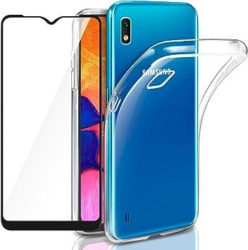 AROYI Funda Samsung Galaxy M10 + Cristal Vidrio Templado Samsung ...