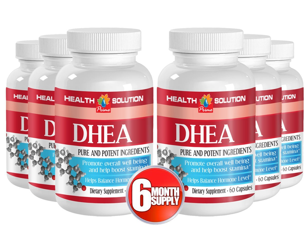Dhea vegetarian - DHEA 50 mg - muscle building supplement (6 bottles)