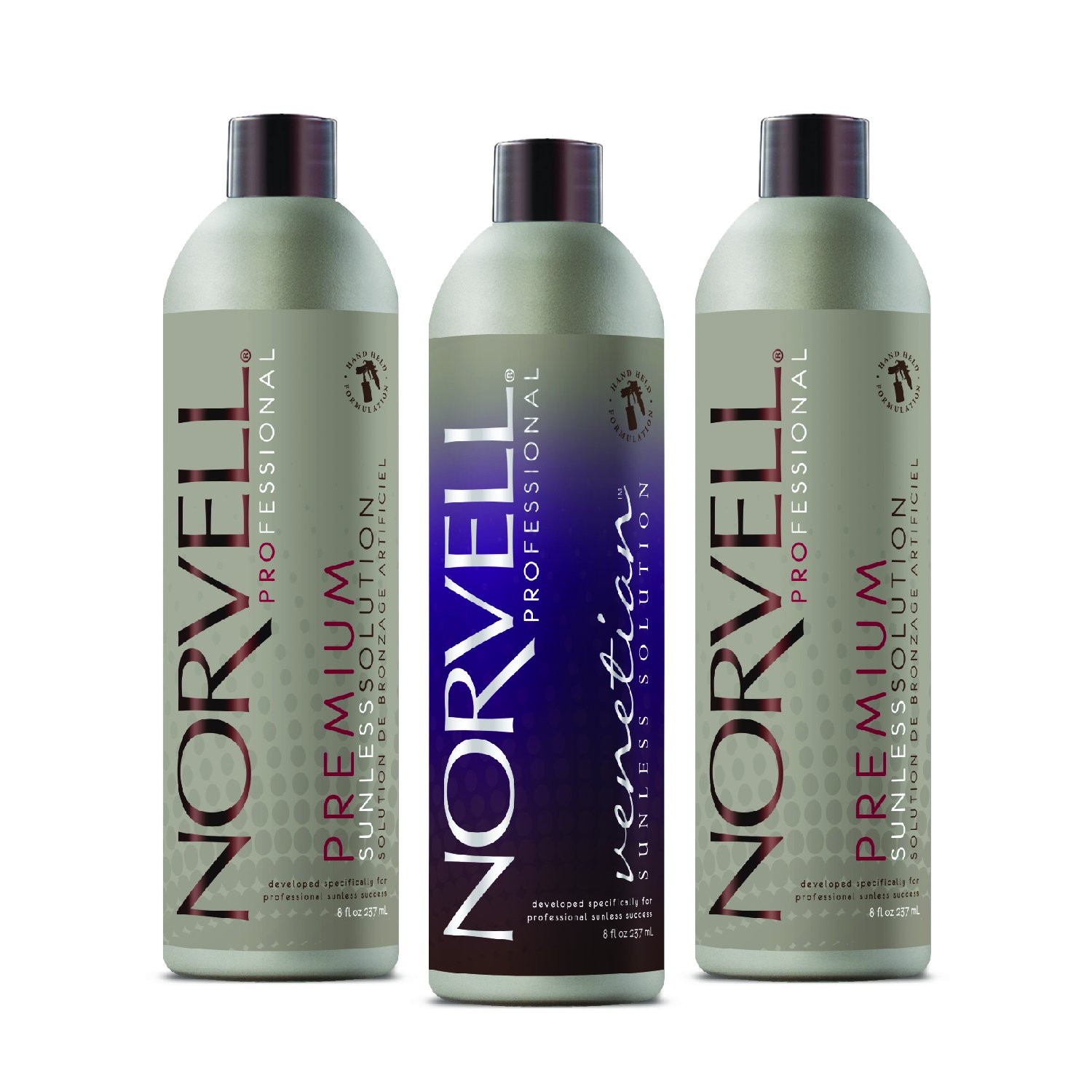 Norvell Sunless Kit - M1000 Mobile HVLP Spray Tan Airbrush Machine + 8 oz Tanning Solutions in Clear Plus, Venetian and Dark + Norvell Training Program (Retail Value $490) by Norvell (Image #4)