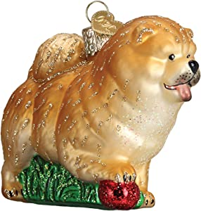 Old World Christmas Dog Collection Glass Blown Ornaments for Christmas Tree Chow