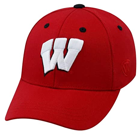 5b31bb21 Top of the World Wisconsin Badgers Rookie 1Fit