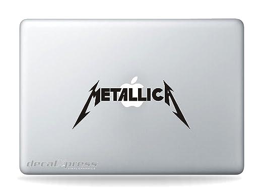 Amazon com rock band metallica a sticker decal macbook air pro all models computers accessories