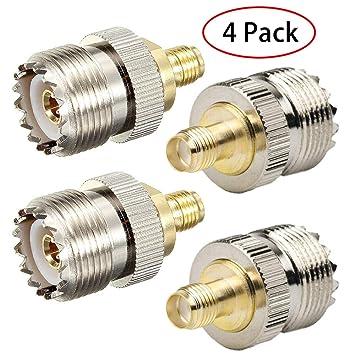 TengKo SMA Hembra a UHF Hembra SO239 Conector RF Adaptador Coaxial para Repetidores de Antena WiFi