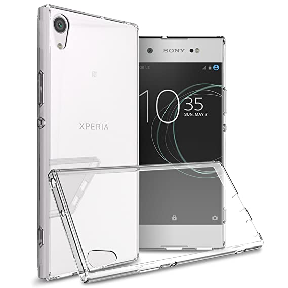 meet 9028f 60b53 Sony Xperia XA1 Ultra Case, CoverON [ClearGuard Series] Hard Clear Back  Cover with Flexible TPU Bumpers Slim Fit Phone Cover Case for Sony Xperia  XA1 ...