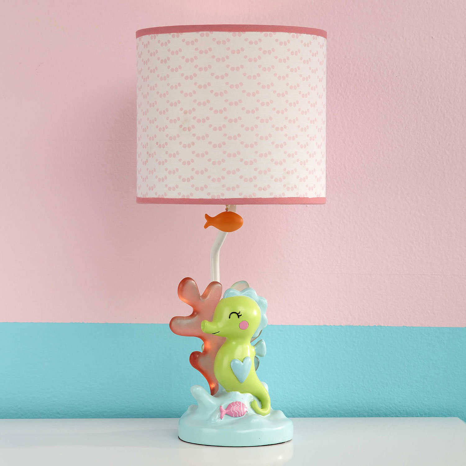Amazon.com: Carter's Sea Collection Lamp and Shade, Pink/Blue ...