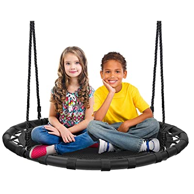 "Sorbus Spinner Swing – Kids Round Mat Swing – Great for Tree, Swing Set, Backyard, Playground, Playroom – Accessories Included [New Improved 2020 Design!] (40"" Mat Seat): Toys & Games"