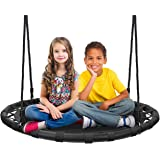 Sorbus Spinner Swing – Kids Round Mat Swing – Great for Tree, Swing Set, Backyard, Playground, Playroom – Accessories…