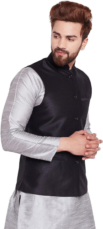 Sojanya Since 1958 Mens Dupion Silk ONLY Nehru Jacket