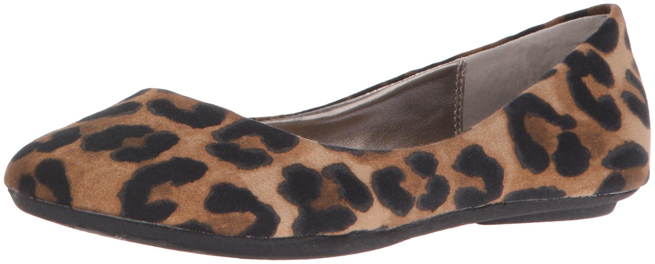 Steve Madden Women's P-Heaven Flat,Leopard Fabric,8 M US