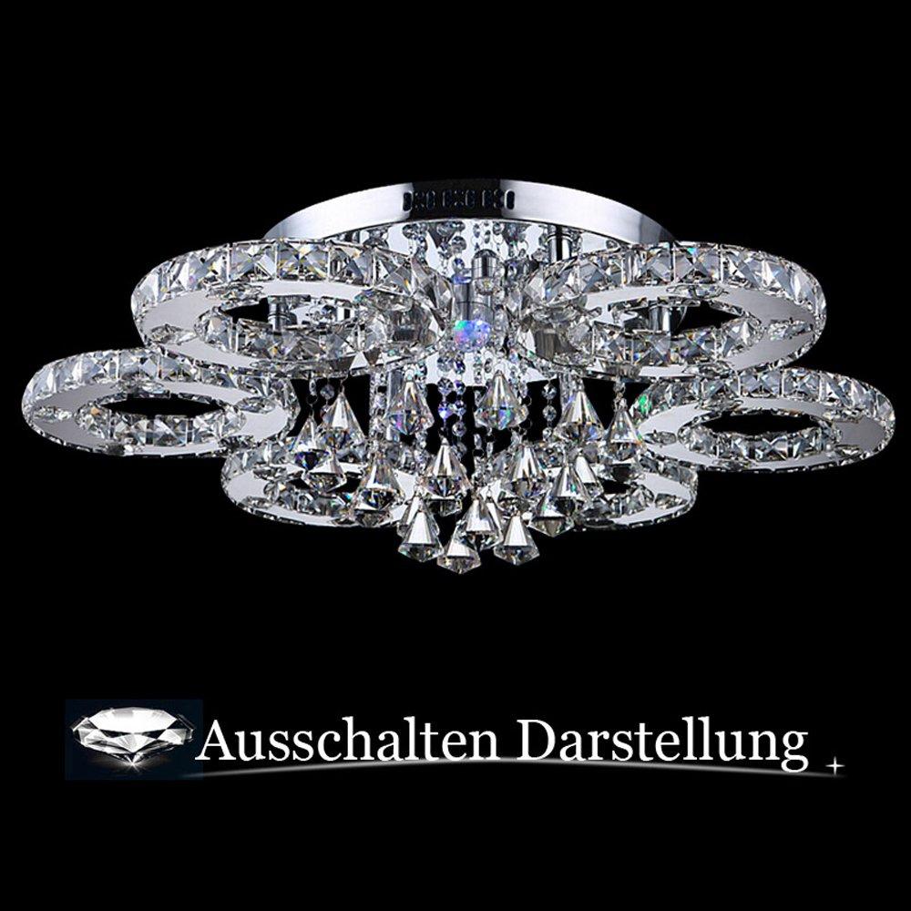 Hengda® luxus design kristall deckenleuchte farbwechselfunktion ...