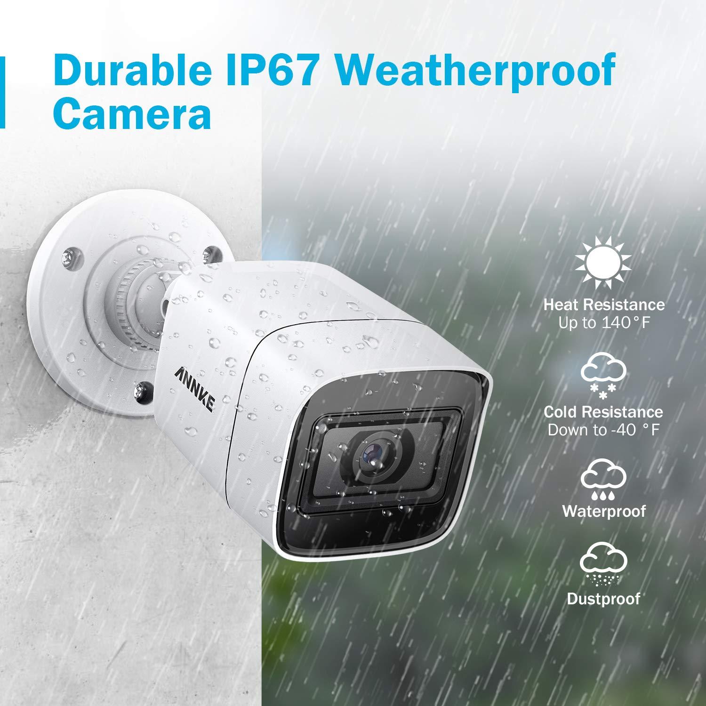 ANNKE Kit Sistema de Seguridad 8CH DVR Ultra HD 4K H.265 y 4/×4K HD C/ámaras de vigilancia IP67 Impermeable Alerta por correo electr/ónico con instant/áneas Acceso remoto-sin HDD