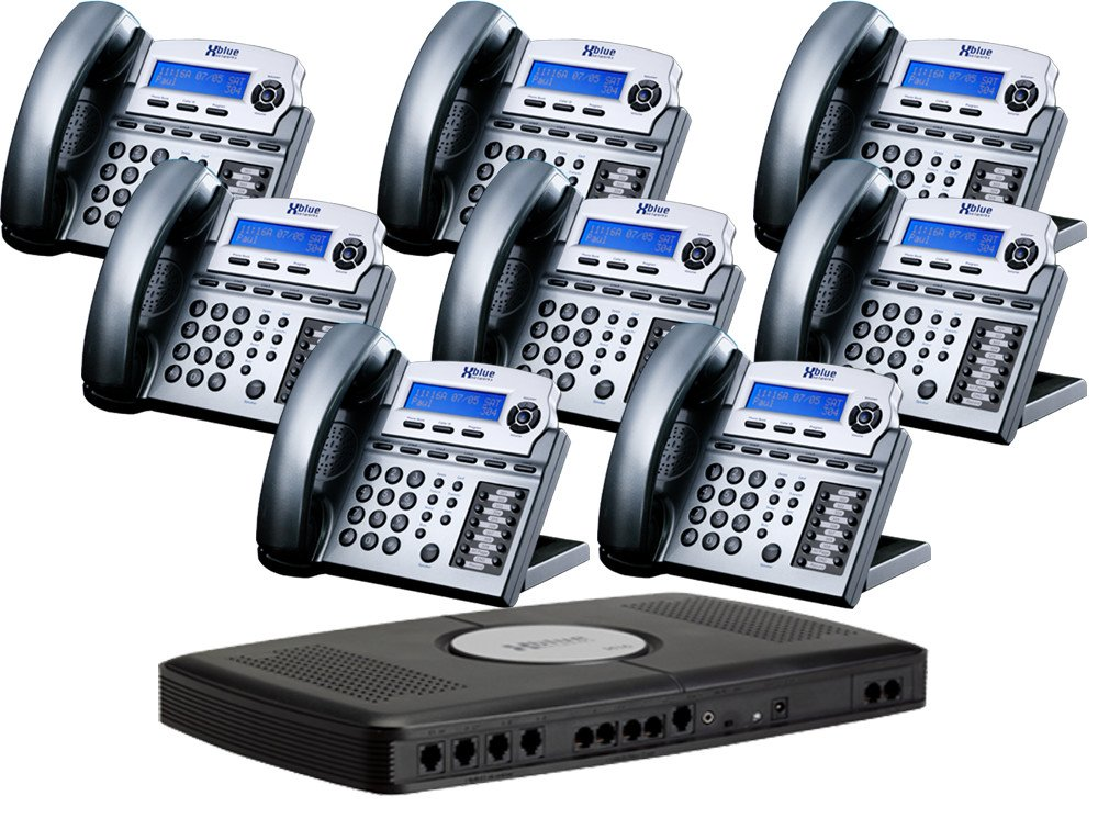 Amazon.com : X16 6 Line Small Office Phone System With 8 Titanium Metallic  X16 Telephones   Auto Attendant, Voicemail, Caller ID, Paging U0026 Intercom :  Corded ...