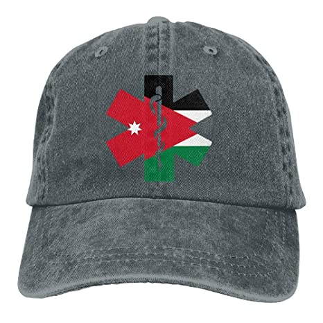 Voxpkrs Flag of Jordan EMT Unisex Baseball Cap Cowboy Hat Dad Hats ...